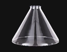 "9"" Clear Glass Deep Cone Shade, 2 1/4"" fitter, 2nds"