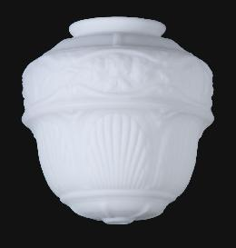 Opal Glass Embossed Hall Light Shade