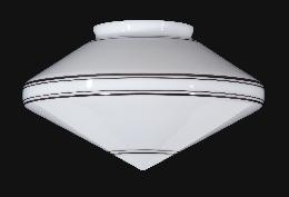 "14"" Striped Art Deco Pendant Shade"