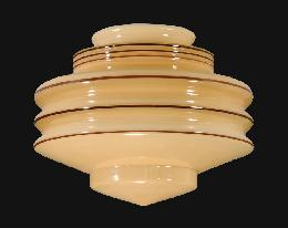 "8"" Nu-Gold Art Deco Glass Shade"