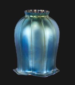 Blue Iridescent Tulip Art Glass Shade 08904 B Amp P Lamp Supply