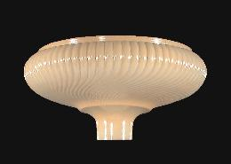 "14"" Nu-gold Rib Swirl Torchiere Shade"