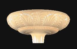 "14 1/2"" Embossed Nu-Gold Torchiere Shade"