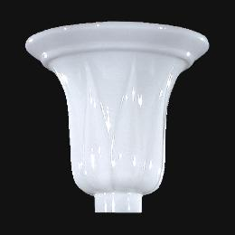 "10 1/4"" Opal Glass Tulip-Shape Torchiere Shade"