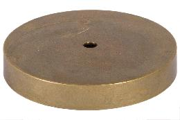 Round Unfinished Cast Brass Lamp Base