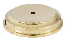 Unfinished Flaired Disc Solid Brass Lamp Base