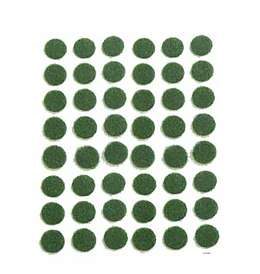 Adhesive Backed, Green Felt Dots