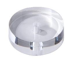 "3"" Dia. Flat Cylinder-Shaped Acrylic Lamp Break"