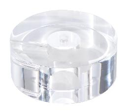 "2"" Thick, Round Acrylic Lamp Bases - 5 Sizes"