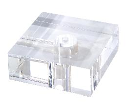 "2"" Thick, Clear Acrylic Lamp Bases - 3 Sizes"