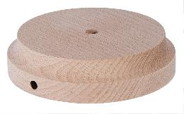 Modern Style Round Wooden Lamp Bases with Tapered Edge
