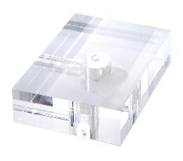 "2"" Thick, Rectangular Acrylic Lamp Bases - 2 Sizes"