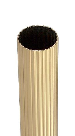 "1"" O.D., Reeded Brass Tubing"