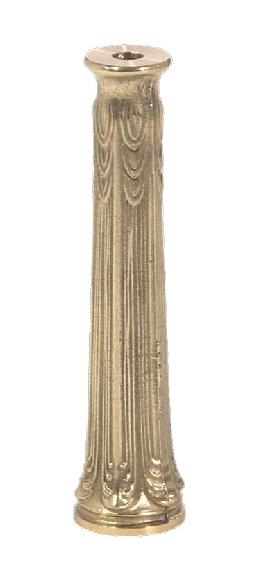 "Die Cast Brass Column, 6 1/2"" ht."