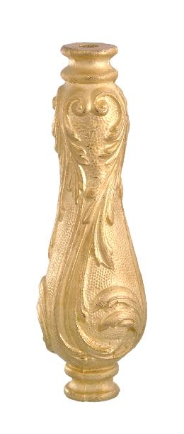 "Die Cast Brass Column, 8 1/8"" ht."