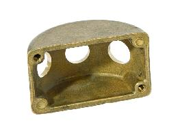 3-Arm Die Cast Brass Wall Plate Cluster Body, 1/8IP Slip, Unfinished