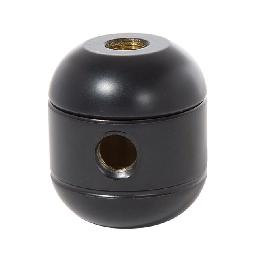 "1-5/8"" Tall, Satin Black Finish, Brass Cluster Body, 2-Piece, All Holes 1/8F"