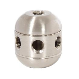 "1-5/8"" Tall, Satin Nickel Finish, Brass Cluster Body, 2-Piece, All Holes 1/8F"