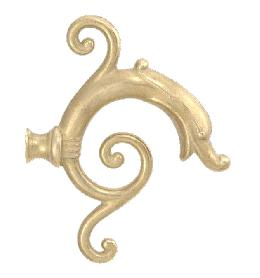 "5 1/2"" Cast Brass Arm Back"