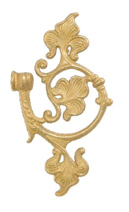 "6 1/8""X 3 7/8"" Cast Brass Arm Back"