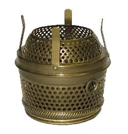 Antique Brass Central Draft style Cut-Out Burner
