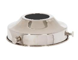 "3-1/4"" fitter, Brass Lamp Shade Holder to SLIP UNO Threaded Sockets, Polished Nickel Finish"