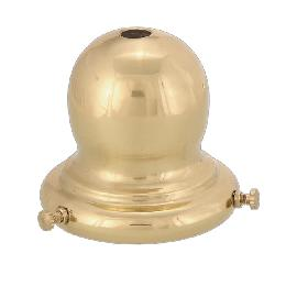 "2 1/4"" Fitter, Bulbous-Shaped Spun Brass Shade Holder"