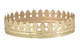 "1 3/8"" Brass Top Crown for 14"" Dome Shades"