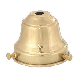 "2 1/4"" Fitter, Spun Brass Fixture Shade Holder"