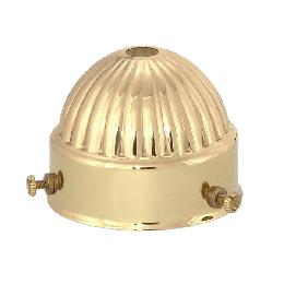 "2 1/4"" Stamped Brass Shade Holder"