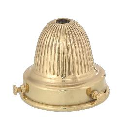 "2 1/4"" Fitter, Reeded Brass Shade Holder"