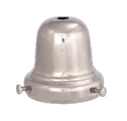 "2 1/4"" Nickel Plated Bell-type Shade Holder"