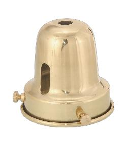 "2 1/4"" Fitter, Brass Bell-Type Shade Holder"