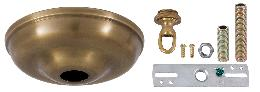 5 1/2 Inch Antique Brass Round Canopy