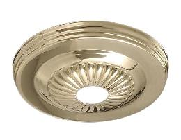 "Solid Brass Canopy with Rosette Design, 5 1/4"" dia."