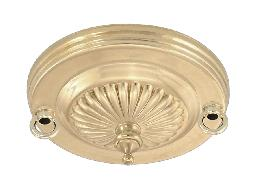 2-Loop Embossed Solid Brass Canopy