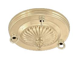 3 Loop Embossed Solid Brass Canopy