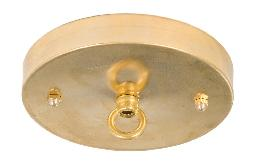 "5 1/8"" Brass Ceiling Canopy Kit with Cast Brass Loop - Unfinished Brass"