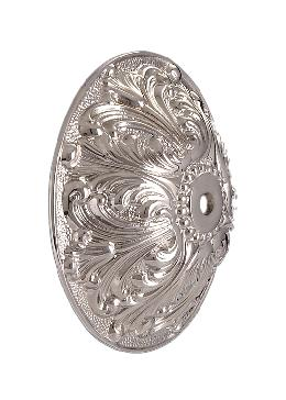 Ornate Nickel Plated, Solid Brass Back Plate