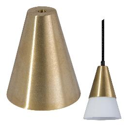 Modern Brass Conical Shade Holder