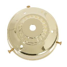 "3-1/4"" Fitter, Steel Lamp Shade Holder, 1-1/2"" tall, Brass Plated Finish"