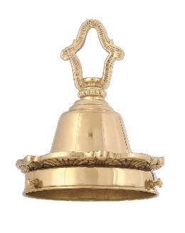"4"" Fitter, Brass Shade Holder w/Decorative Cast Loop & Flange"
