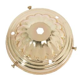 "4"" Fitter Brass Plated Steel Lamp Shade Holder, 2-1/8"" Tall"