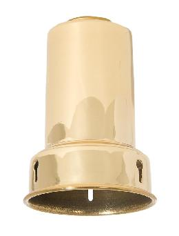 "Brass Bead-Chain Lamp Shade Holder, Made for Standard (E-26) Keyless Lamp Sockets. 3-3/8"" ht., Polished and Lacquered Finish"