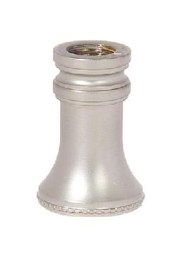 "1-1/4"" Tall Satin Nickel Finish Brass Neck, 1/8F"