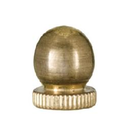 Small, Antique Brass Knob Finial, 1/4-27F