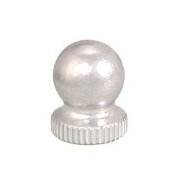 Small, Nickel Plated Knob Finial, 1/4-27F