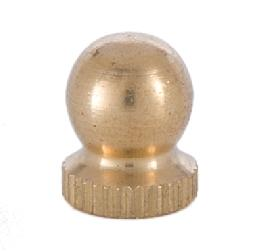 Unfinished Brass Small Knurled Knob Finial