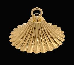 Solid Brass, Ribbed, Smoke Bell for Hanging Lamps