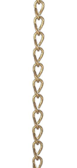 #18 Brass Double Jack Chain